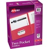 """Avery® Two Pocket Folders, Holds up to 40 Sheets, 25 Red Folders (47989) - Letter - 8 1/2"""" x 11"""" Sheet Size - 40 Sheet Capacity - 2 Pocket(s) - Em"""