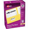 "Avery® Two-Pocket Folders - Letter - 8 1/2"" x 11"" Sheet Size - 40 Sheet Capacity - 2 Internal Pocket(s) - Embossed Paper - Yellow - 25 / Box"