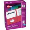 """Avery® Two Pocket Folders, Holds up to 40 Sheets, 25 Assorted Color Folders (47993) - Letter - 8 1/2"""" x 11"""" Sheet Size - 40 Sheet Capacity - 2 Poc"""