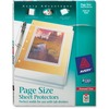 "Avery® Page Size Sheet Protectors - 1 x Sheet Capacity - For Letter 8 1/2"" x 11"" Sheet - Ring Binder - Clear - Polypropylene - 50 / Box"