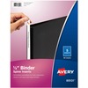 "Avery® 1/2"" Binder Spine Inserts, 80 Inserts (89101) - 1/2"" Sheet - White - Card Stock - 80 / Pack"