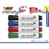 BIC Intensity Chisel Point Whiteboard Markers - Fine Marker Point - Chisel Marker Point Style - Assorted, Blue, Green, Red - 4 / Set