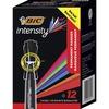 BIC Marking Chisel Tip Markers - Chisel Marker Point Style - Black - 12 / Dozen