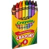 "Crayola Tuck Box Classic Childrens Crayons - 3.6"" Length - 0.3"" Diameter - Assorted - 8 / Box"