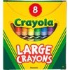 Crayola 8-count Large Crayons - Assorted - 8 / Box