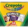 "Crayola Regular Size Crayon Sets - 3.6"" Length - 0.3"" Diameter - Assorted - 64 / Box"
