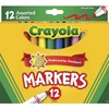Crayola Broad Tip Classic Markers - Broad Marker Point - Conical Marker Point Style - Assorted, Orange, Yellow, Green, Blue, Violet, Brown, Black, Gra