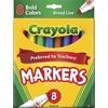 Crayola Regular Bold Colors Broad Line Markers - Broad Marker Point - Conical Marker Point Style - Assorted, Golden Yellow, Teal, Emerald, Azure, Plum