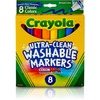 Crayola Classic Washable Marker Set - Broad Marker Point - Conical Marker Point Style - Red, Orange, Yellow, Green, Blue, Violet, Brown, Black Water B