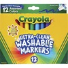 Crayola Classic Washable Markers - Broad Marker Point - Conical Marker Point Style - Assorted, Orange, Yellow, Green, Blue, Violet, Brown, Black, Gray