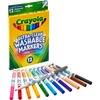 Crayola Thinline Washable Markers - Fine Marker Point - Red, Orange, Yellow, Green, Blue, Violet, Brown, Black, Gray, Flamingo Pink, Blue, ... Water B