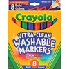 Crayola Washable Bold Colors Broad Line Markers - Broad Marker Point - Assorted, Golden Yellow, Teal, Emerald, Azure, Plum, Raspberry - 8 / Set