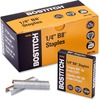 "Bostitch PowerCrown Premium Staples - 210 Per Strip - 1/4"" Leg - 1/2"" Crown - Chisel Point - Silver - High Carbon Steel - 2.5"" Height x 0.5"" Width0.3"""