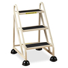 "Cramer High-tensile Three-step Aluminum Ladder - 3 Step - 300 lb Load Capacity - 21.5"" x 26.5"" x 32.5"" - Aluminum - Beige"