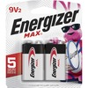 Energizer MAX Alkaline 9 Volt Batteries, 2 Pack - For Multipurpose - 9V - 9 V DC - 595 mAh - Alkaline - 2 / Pack