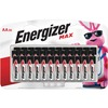 Energizer MAX Alkaline AA Batteries, 36 Pack - For Multipurpose - AA - 1.5 V DC - Alkaline - 36 / Pack