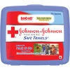 "Johnson & Johnson Safe Travels First Aid Kit - 70 x Piece(s) - 5.5"" Height x 6.3"" Width x 1.6"" Depth - Plastic Case - 1 Each"