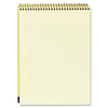 """Mead Premium Wirebound Legal Pads - 70 Sheets - Spiral - 20 lb Basis Weight - 8 1/2"""" x 11 3/4"""" - Canary Paper - Navy Cover - Board Cover - Heavyweight"""