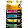 "Post-it® 1/2""W Arrow Flags -Bright Colors - 4 Dispensers - 24 x Pink, 24 x Blue, 24 x Yellow, 24 x Green - 0.50"" x 1.75"" - Arrow, Rectangle - Unru"
