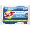 "Scotch-Brite No Scratch Scrub Sponges - 2.8"" Height x 4.5"" Width x 4.5"" Length x 590 mil Thickness - 3/Pack - Blue"