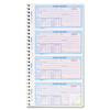 "Rediform Money Receipt Spiral Collection Forms - 200 Sheet(s) - Wire Bound - 2 PartCarbonless Copy - 2.75"" x 5.50"" Form Size - White, Yellow - Assorte"