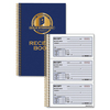 "Rediform Gold Standard Receipt Book - 225 Sheet(s) - Wire Bound - 2 PartCarbonless Copy - 5 1/2"" x 8 1/2"" Sheet Size - Blue - Assorted Sheet(s) - Red"
