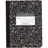 "Roaring Spring Wide Ruled Hard Cover Composition Book, 9.75"" x 7.5"" 60 Sheets, Black Marble Cover - 60 Sheets - 120 Pages - Printed - Sewn/Tapebound -"