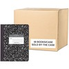 "Roaring Spring Wide Ruled Hard Cover Composition Book, 9.75"" x 7.5"" 100 Sheets, Black Marble Cover - 100 Sheets - 200 Pages - Printed - Sewn/Tapebound"