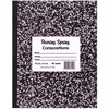 "Roaring Spring Black Cover Flexcomp 10""x8"" WM - 60 Sheets - 120 Pages - Printed - Sewn/Tapebound - Both Side Ruling Surface - Wide Ruled Red Margin -"