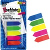 "Redi-Tag Plain Write-on Arrow Flags in Holder - 25 x Neon Blue, 25 x Lime, 25 x Lemon, 25 x Pink, 25 x Tangerine - 0.46"" x 1.75"" - Arrow - Assorted -"