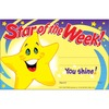 "Trend Cheerful Recognition Awards - ""Star of the Week"" - 8.50"" x 5.50"" - 30 / Pack"