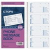 """TOPS Carbonless While You Were Out Book - Double Sided Sheet - Spiral Bound - 2 PartCarbonless Copy - 5 1/2"""" x 11"""" Sheet Size - White - Assorted Sheet"""