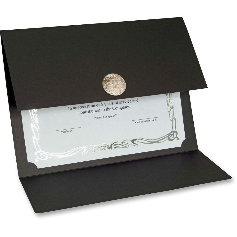 certificate holders card holder medallion gift elite james st silver boxes fold linen pack paper walmart office recycled frames certificates