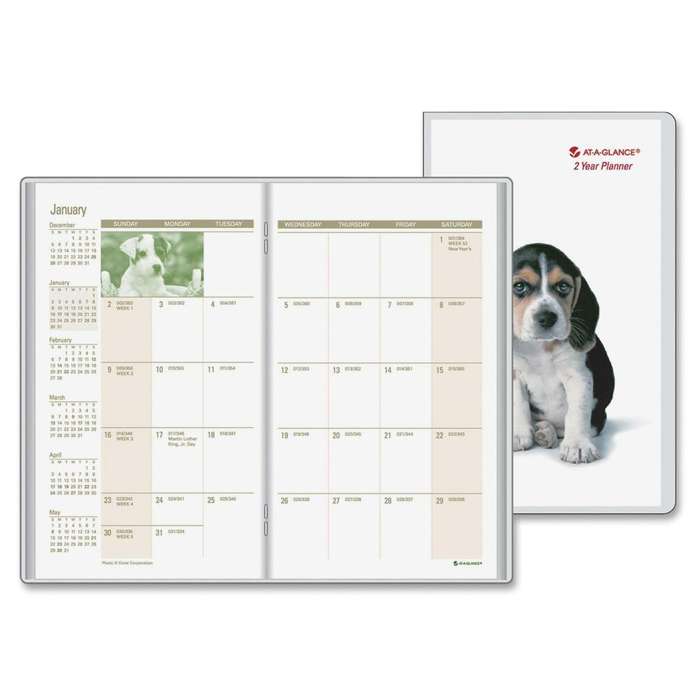 at a glance puppies 2 year pocket planner aagtl245010