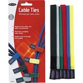 8IN VELCRO CABLE TIES 6 PACK MULTICOLORED