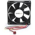 8cm PC Case Cooling Fan w/RPM Sensor, 3-lead Connector