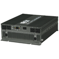 Compact 12 volt DC to 120 volt AC power inverter. 3000 watts continuous / 6000 watts peak. Requires hardwire DC installation, 4 AC outlets. Includes corded remote power control module.