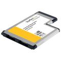 2 Port Flush Mount ExpressCard 54mm eSATA II Controller Adapter Card