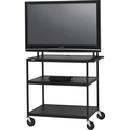 WIDE BODY LCD TV CART MONITORS TO 100LBS W/ELEC