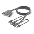 2-Port KVM Switch with Built-In Cabling