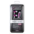 Link Depot Multimedia LD-HDS-PNK Stereo Handsfree Earphones for iPhones Pink Retail