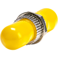 ST/ST SM SIMPLEX METAL ADAPTER W/ YELLOW DUST CAP
