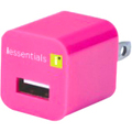 iEssentials 1 Amp USB Travel Charger Pink