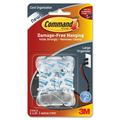 Cord Clips, Large, 3 Adhesive Strips, 2/PK, Clear