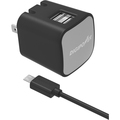 DigiPower 2.4 amp dual USB Wall Charger with 5ft Micro Cable included.