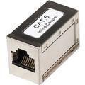 Cat6 Modular Inline coupler, 8p8c Female to 8P8C female, FTP, Silver