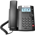 VVX201 2LINE DESKTOP PHONE POE WITH DUAL 10/100 ETHERNET PORTS IN