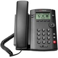 VVX 101 1-line Desktop Phone with single 10/100 Ethernet port. Ships with universal power supply with NA power plug.