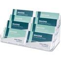 Deflecto Business Card Holder - Acrylic - 1 Each - Clear