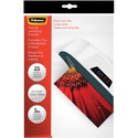 "Fellowes Glossy Pouches - 5mil, Photo, 25 pack - Sheet Size Supported: Photo-size - Laminating Pouch/Sheet Size: 6.25"" Width x 5 mil Thickness - Type G - Glossy - for Document, Photo - Durable - Clear - 25 / Pack"